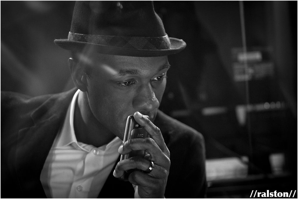"aloe blacc recording a spanish version of his song ""wake me up"" {los angeles, ca}"