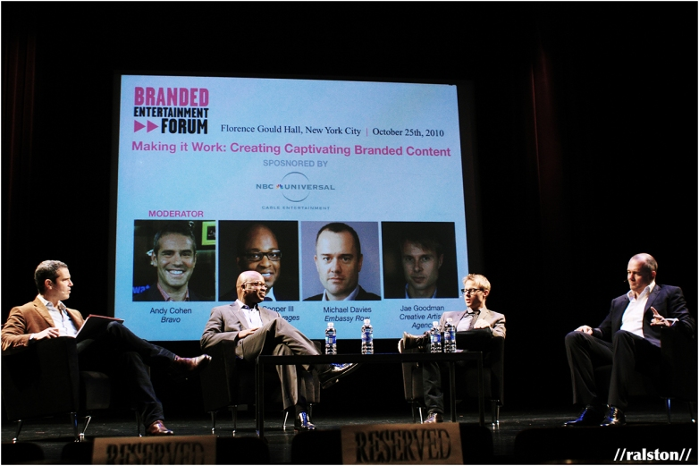 reel screen's 'branded entertainment forum' panel moderated by andy cohen